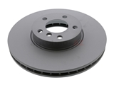 34116793245 Zimmermann Coat Z Disc Brake Rotor; Front, Vented; 332x30mm
