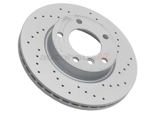 34116855153SP Zimmermann Sport Z X-Drilled Disc Brake Rotor; Front; Vented 285x22mm 5 Lug; Cross-Drilled