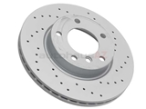 34116855153SP Zimmermann Coat Z Sport Disc Brake Rotor; Front; Vented 285x22mm 5 Lug; Cross-Drilled