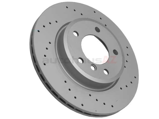 34116864058SP Zimmermann Sport Z X-Drilled Disc Brake Rotor; Front; Vented 300x22mm; Cross-Drilled