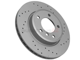 34116864058SP Zimmermann Coat Z Sport Disc Brake Rotor; Front; Vented 300x22mm; Cross-Drilled