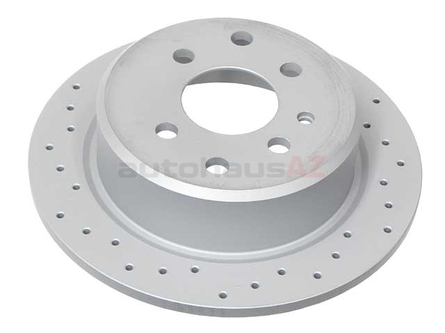34211119581SP Zimmermann Sport Z X-Drilled Disc Brake Rotor; Rear; Solid 258x10mm 4 Lug; Cross-Drilled