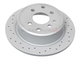 34211119581SP Zimmermann Coat Z Sport Disc Brake Rotor; Rear; Solid 258x10mm 4 Lug; Cross-Drilled