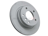 34211158936 Zimmermann Coat Z Disc Brake Rotor; Rear; Solid 280x10mm