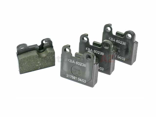 34211159265 ATE Brake Pad Set; Rear, OE Compound