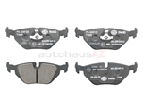34211164501 Hella Pagid Brake Pad Set; Rear; OE Compound