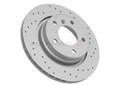 34211165563SP Zimmermann Sport Disc Brake Rotor; Rear; Vented 294x19mm; Cross-Drilled