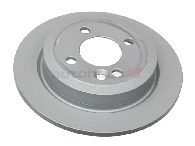 34211503070 Zimmermann Coat Z Disc Brake Rotor; Rear; Solid 259x10mm
