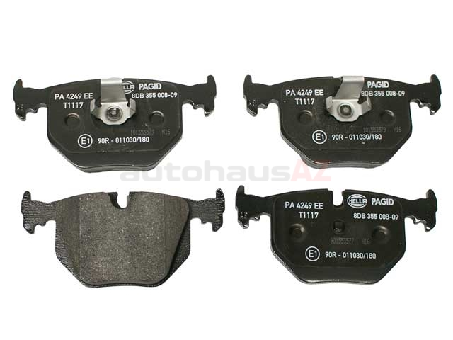 34216750160 Hella Pagid Brake Pad Set; Rear; OE Compound