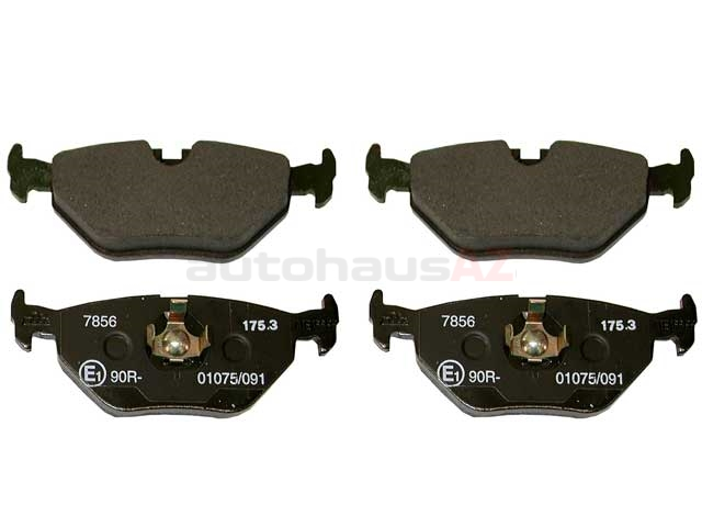 34216750190 ATE Brake Pad Set; Rear; OE Compound Narrow Clip Style for E36-E46 3-Series
