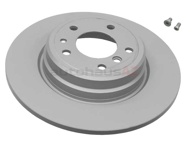 34216757748 ATE Coated Disc Brake Rotor; Rear; Solid 324x12mm; 2 Mount Holes