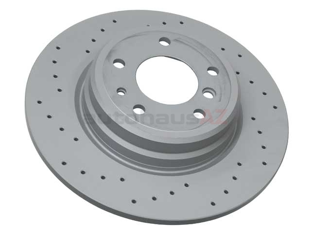 34216757748SP Zimmermann Sport Z X-Drilled Disc Brake Rotor; Rear; Solid 324x12mm; Cross-Drilled