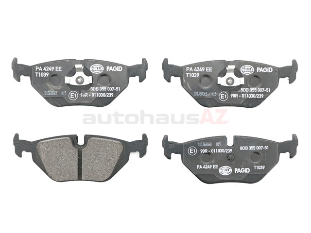 34216761241 Pagid Brake Pad Set; Rear; OE Compound Narrow Clip Style for E36-46 3-Series