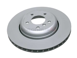 34216763827 Zimmermann Coat Z Disc Brake Rotor; Rear; 345x24mm