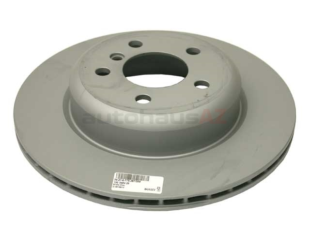 34216775287 Zimmermann Coat Z Disc Brake Rotor; Rear; 330x20mm