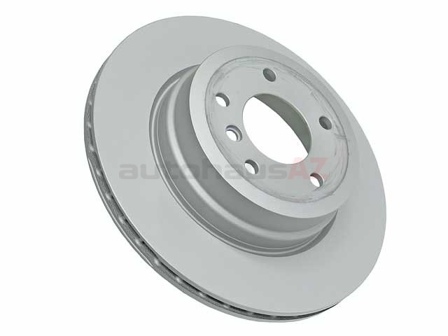 34216778649 Zimmermann Coat Z Disc Brake Rotor; Rear; Vented 324x22mm