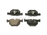 34216784135 ATE Ceramic Brake Pad Set; Rear