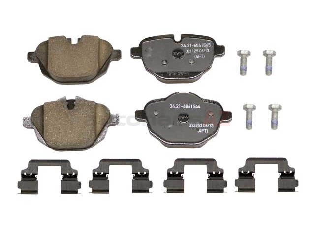 34216862202 Genuine BMW Brake Pad Set; Rear