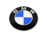 36131122132 Genuine BMW Wheel Center Cap/Emblem; Clip-In Style Emblem for BBS/Forged TRX Wheel; 70mm Diameter