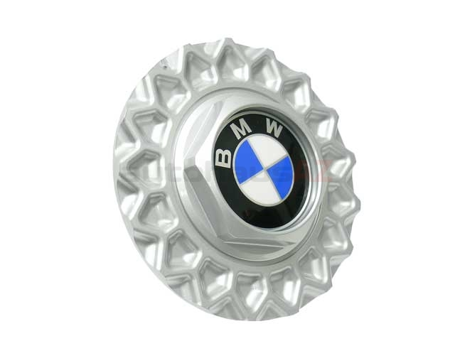 36131179828 Genuine BMW Wheel Center Cap/Emblem; 15 Inch Style 5 Cross-Spoke; BBS Style Wheel