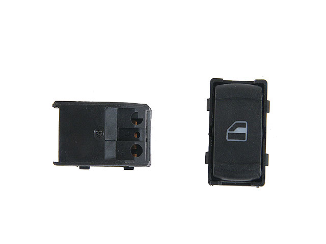3B0959855B Aftermarket Power Window Switch; Black