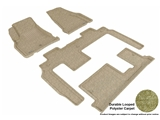 3DM-L1BC02202202 3D MAXpider Floor Mat Set; Tan; Durable Looped Poly Carpet; Front Rear and Third Row