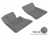 L1BM01212201 3D MAXpider Floor Mat Set; Gray; Durable Looped Poly Carpet; Front