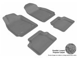 3DM-L1SA00002201 3D MAXpider Floor Mat Set; Gray; Durable Looped Poly Carpet; Front and Rear