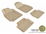 3DM-L1SA00002202 3D MAXpider Floor Mat Set; Tan; Durable Looped Poly Carpet; Front and Rear