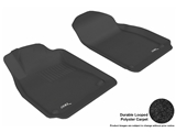 3DM-L1SA00012209 3D MAXpider Floor Mat Set; Black; Durable Looped Poly Carpet; Front