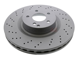 400365820 Zimmermann Coat Z Disc Brake Rotor; Front; Vented and Cross-Drilled; 350 x 32mm