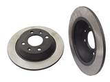 40546040 OPparts Disc Brake Rotor; Rear