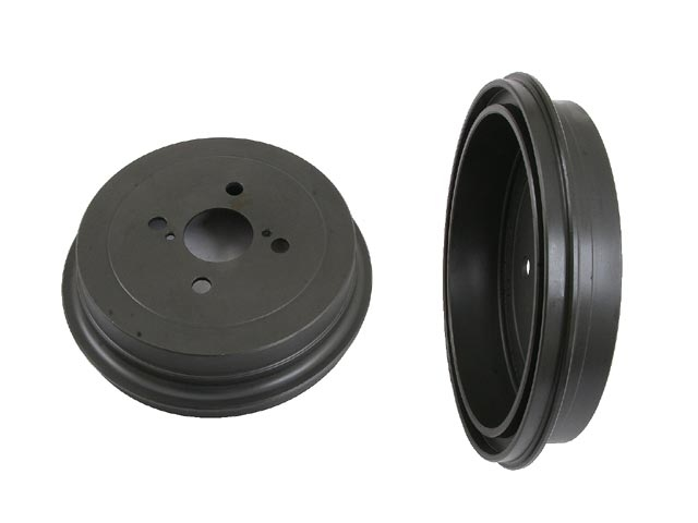 One New OPparts Brake Drum Rear 40551053 for Toyota Yaris