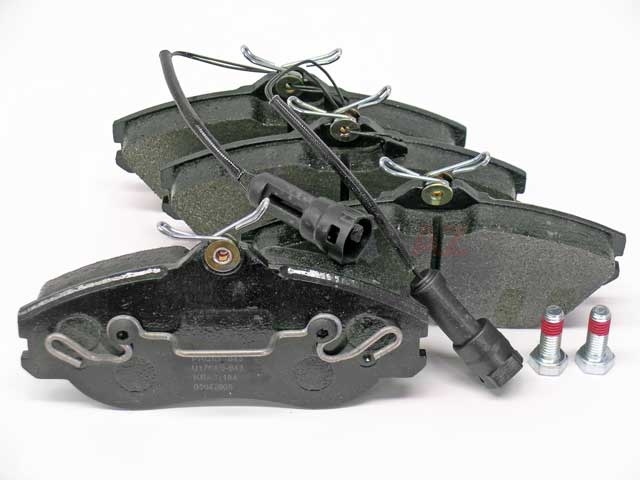 447698151F Pagid Brake Pad Set; Front with Sensors; OE Improved Compound