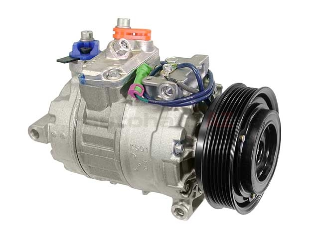 4B0260805B Denso New AC Compressor; With Clutch