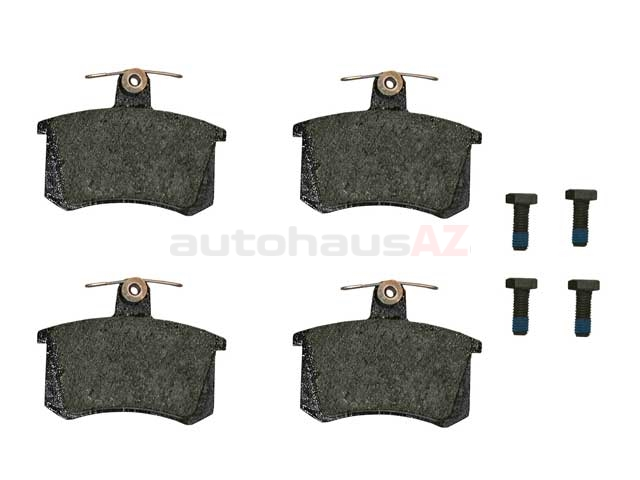 4D0698451A Pagid Brake Pad Set; Rear; OE Compound