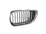 51137030545OE Genuine BMW Grille; Left; Black with Chrome Trim
