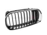 51137030546 Genuine BMW Grille; Right; Black with Chrome Trim