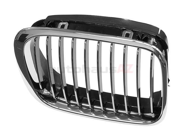 51138208490OE Genuine BMW Grille; Front Right; Chrome w/ Black Chromed Edge Gills.