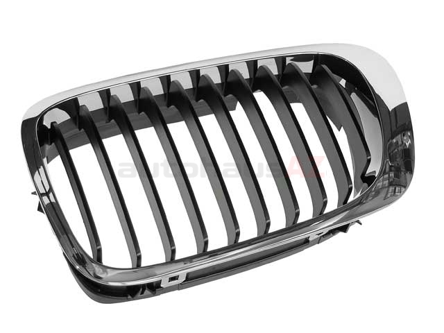 51138208683 Genuine BMW Grille; Left; Chrome with Black Grille