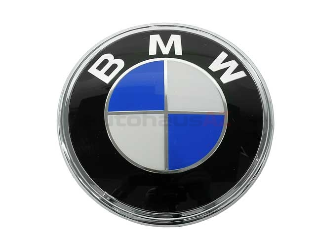 51141872969 Genuine BMW Emblem; BMW Roundel for Trunk/Rear Decklid; 87.5mm Diameter