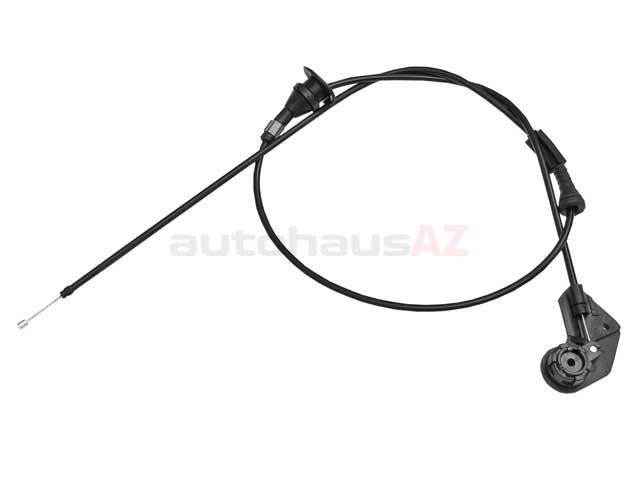 genuine bmw 51238150080 hood release cable  left with