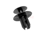 51471911992 German Interior Panel Retainer; Expanding Rivet, Black Plastic