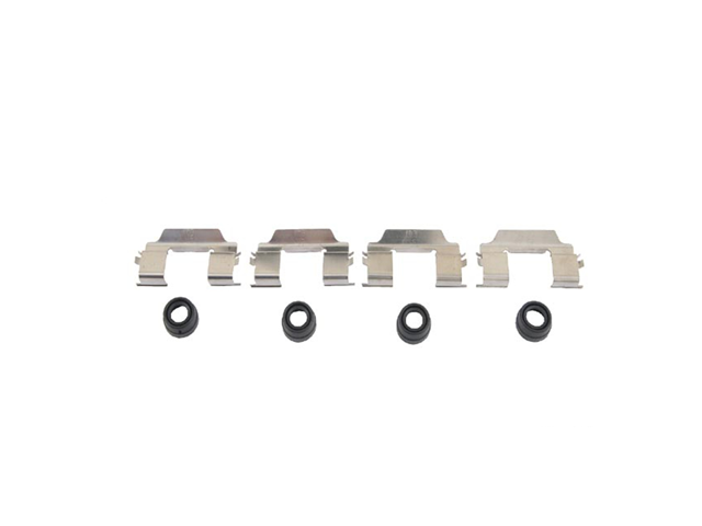 61225010 OPparts Disc Brake Hardware Kit; Rear