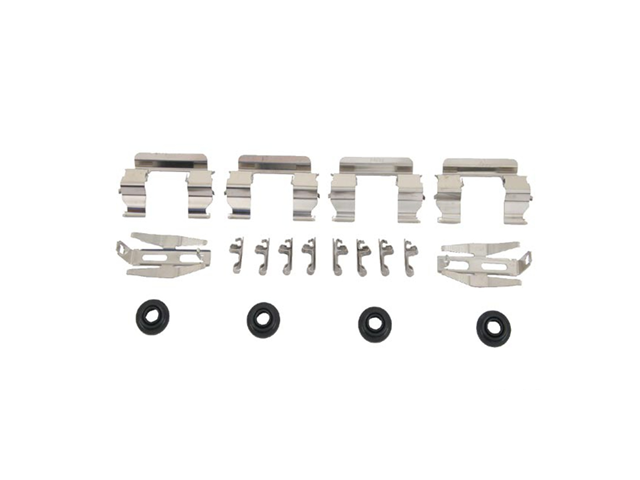 61225011 OPparts Disc Brake Hardware Kit; Front