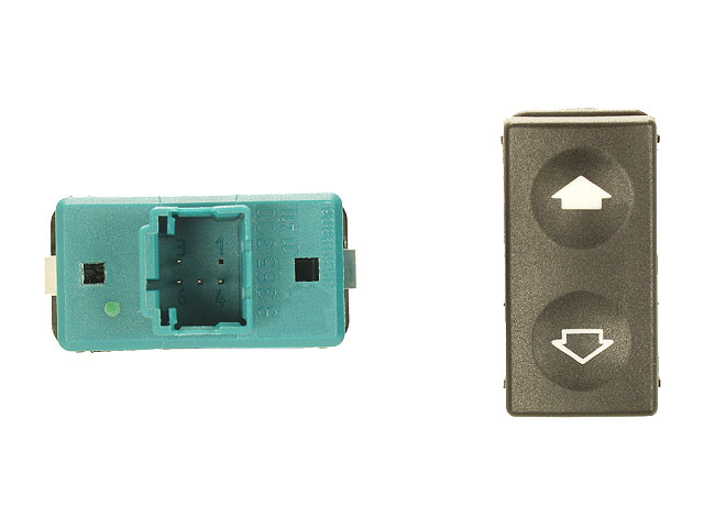 61318365300OE Genuine BMW Power Window Switch; With Tip Function; Green Terminal Housing