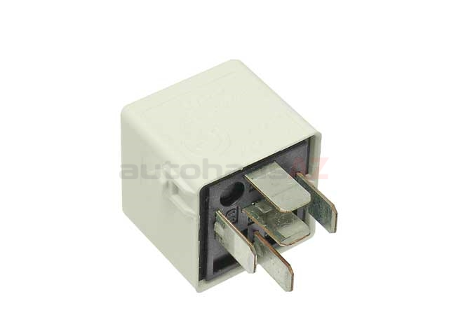 61361729004 Genuine BMW Fuel Injection Relay; DME Relay for Motronic; White with 5 Prong Connector
