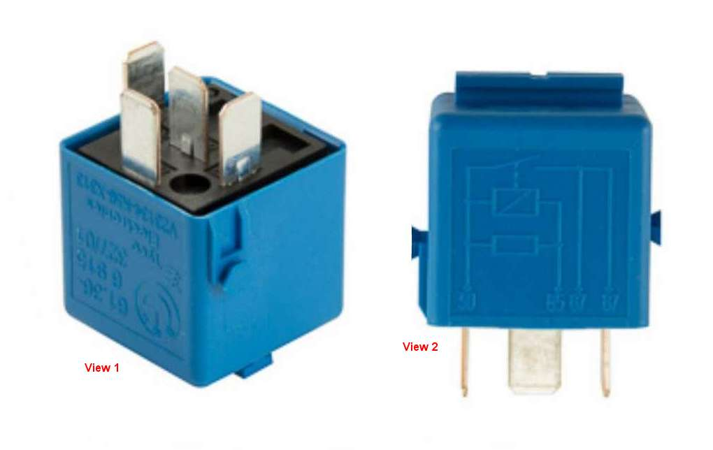 61366915327 Genuine BMW Multi Purpose Relay; 4-Prong; Sky Blue