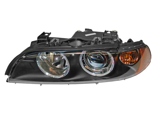 63126900199 Hella Headlight Assembly; Left Halogen with Amber Turn Signal