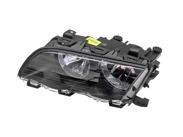 63126902753 Automotive Lighting Headlight; Left Halogen Assembly; Black Trim